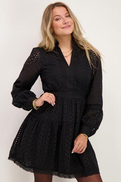 Zwarte jurk embroidery