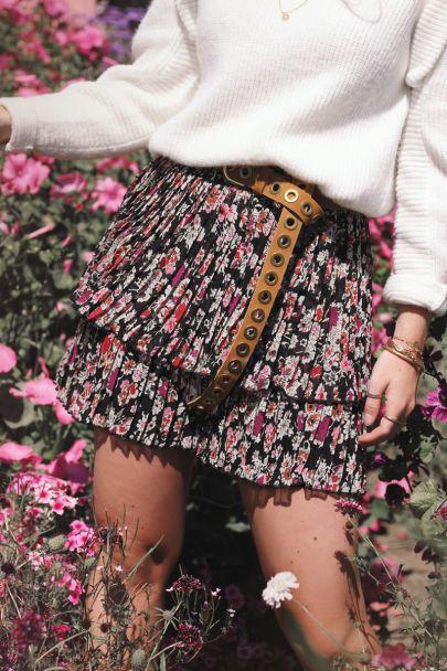 Wildflower rok met plissé
