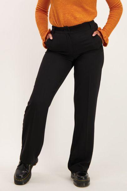 Zwarte pantalon wijdvallend
