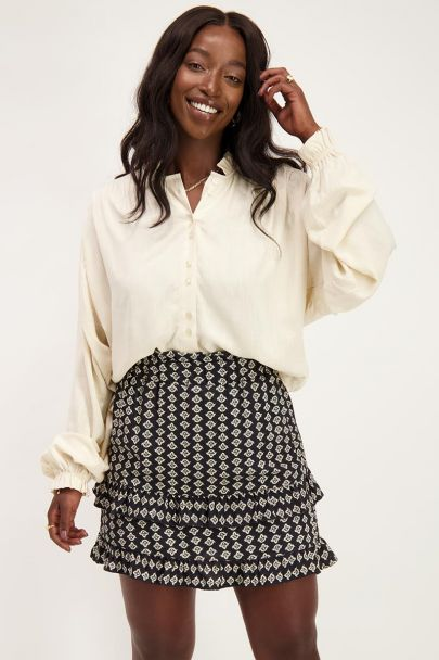 Black skirt with Shapes print