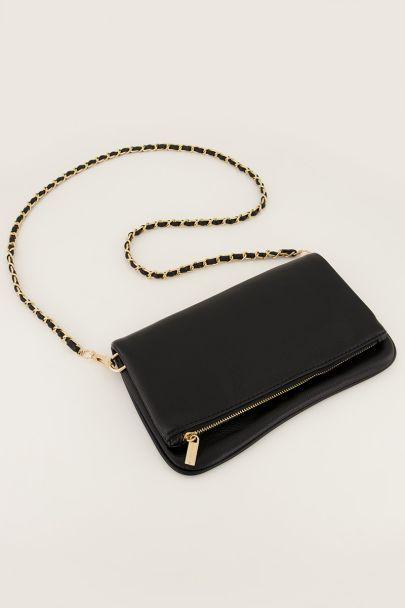 Zwarte schoudertas met twee lagen | Tassen | My Jewellery