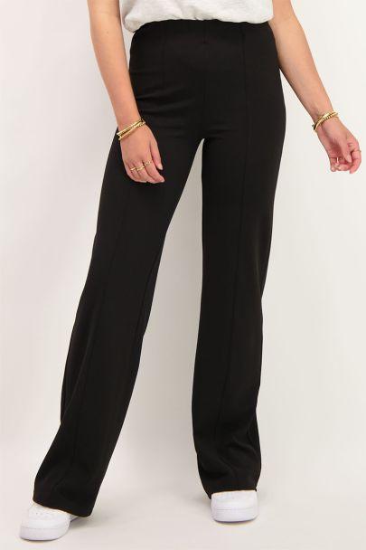 Zwarte straight fit broek