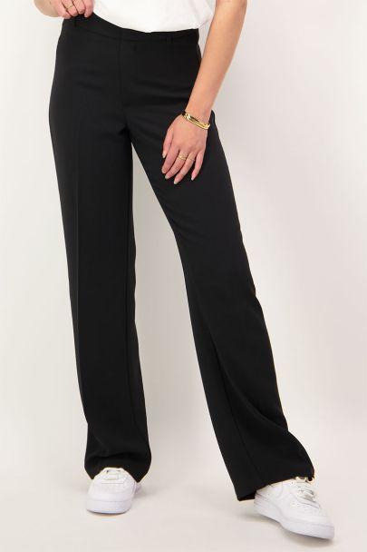 Zwarte wijdvallende pantalon