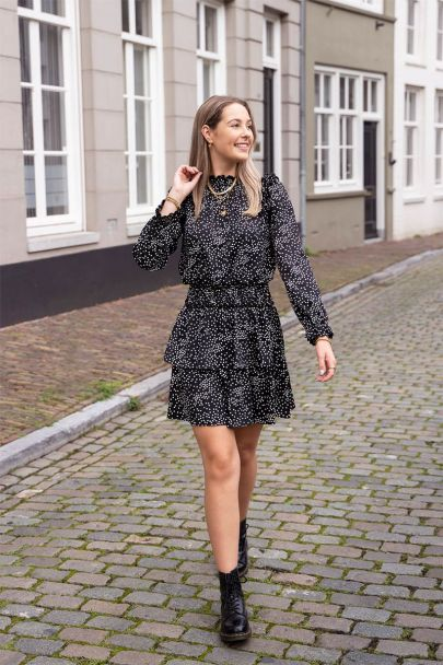 Black dress with dots