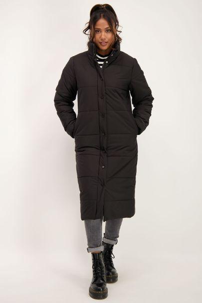 Long black puffer jacket