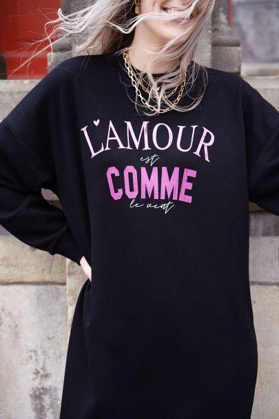 Zwarte sweaterdress L'amour