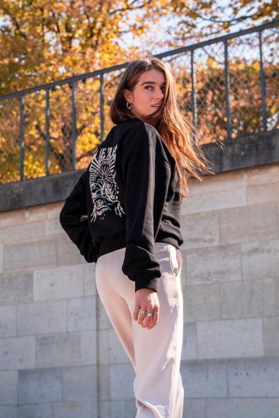 Zwarte sweater La Vie a Paris