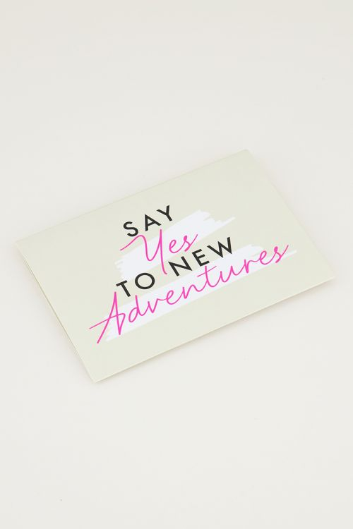 Giftcardholder Say yes to new adventures, giftcard
