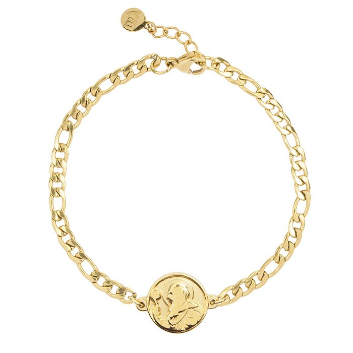 Gouden schakelarmband met munt My Jewellery