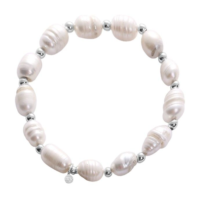 My Jewellery Parel armbandjes wit zilver