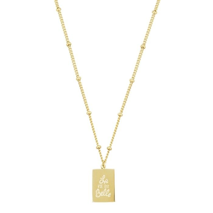 My Jewellery Kettinkje hanger quote roestvrij staal