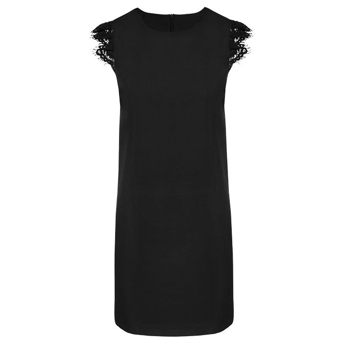 zwart jurkje met mouwtje