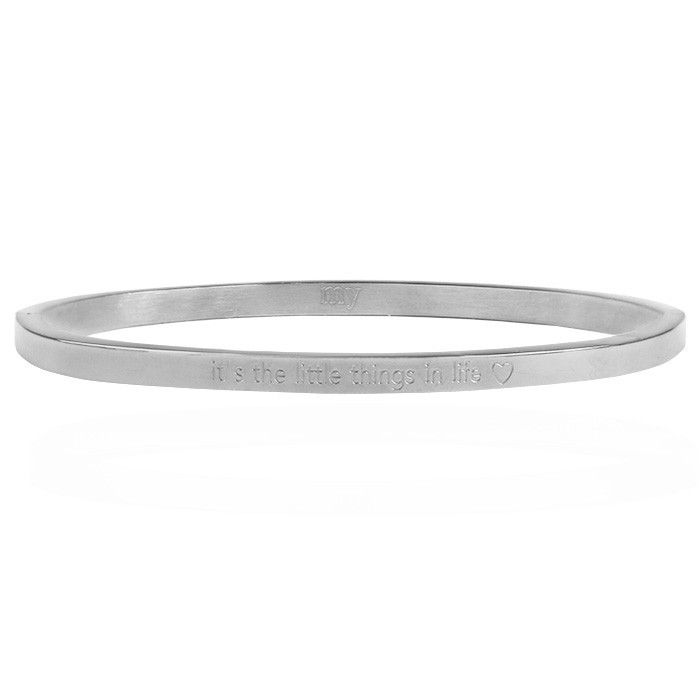 Bangle quote zilver life
