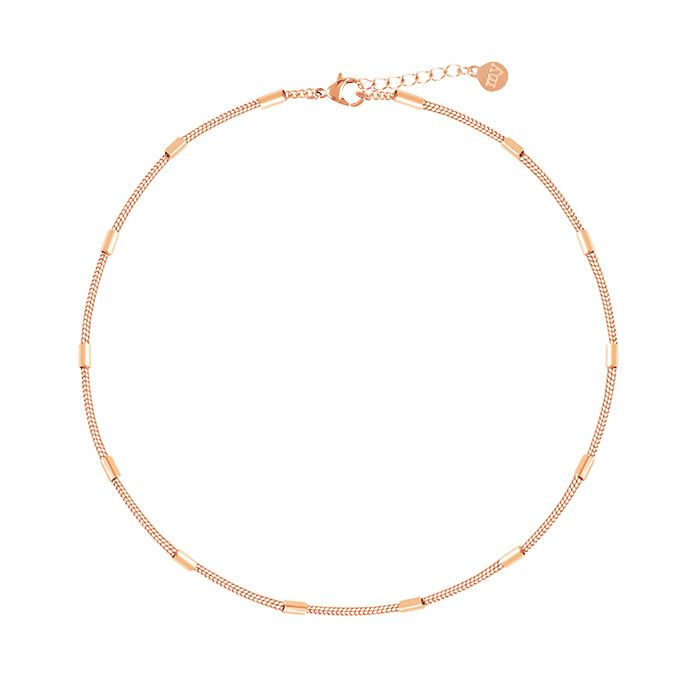 Little Tubes Anklet-Rose goud