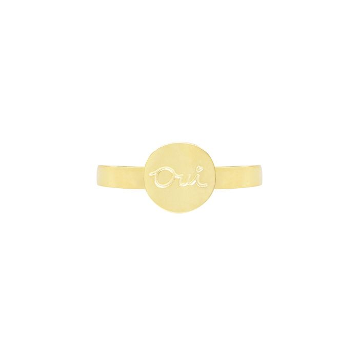 Ring munt oui roestvrij staal, minimalistische ringen
