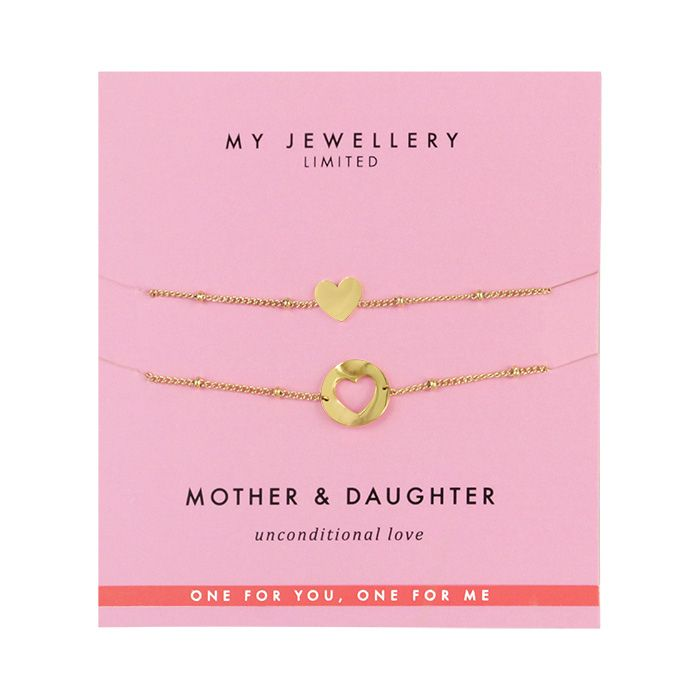 Mother & Daughter Bracelet Heart