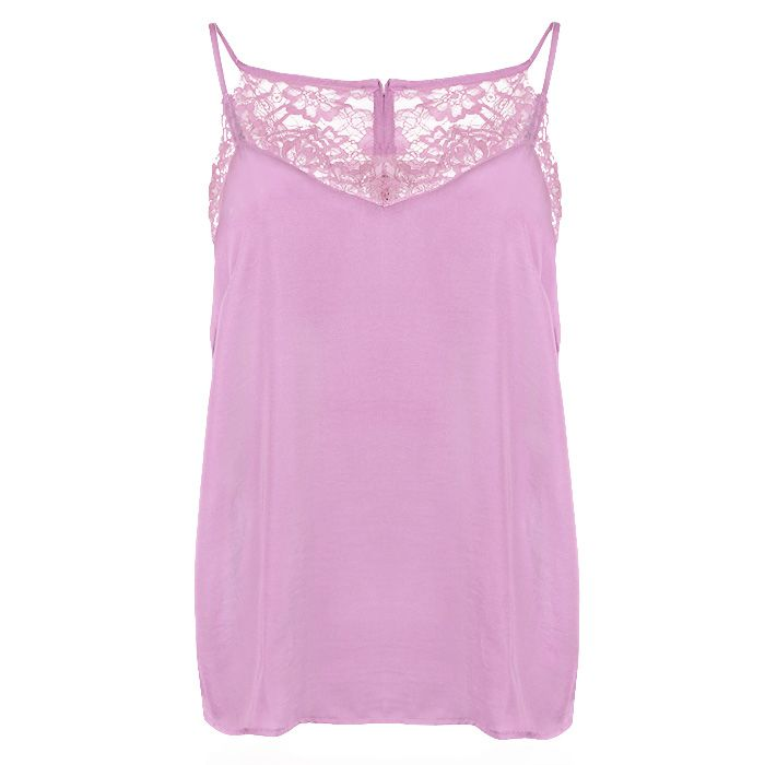 Lace Cami Top - Lilac