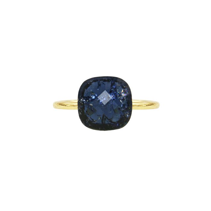 Ring grote steen blauw