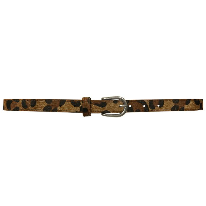 Brown Small Leopard Belt