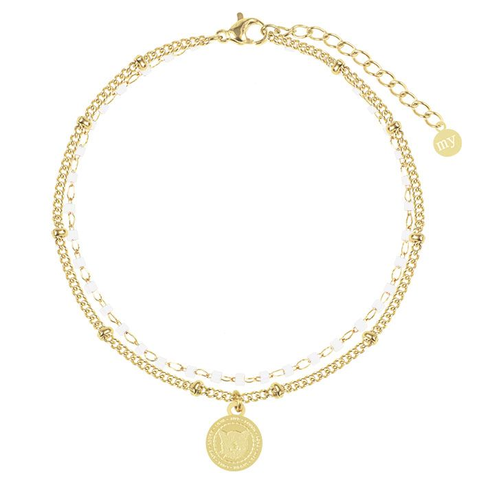 Witte Armband Ketting & Kralen, Kralenarmband My Jewellery