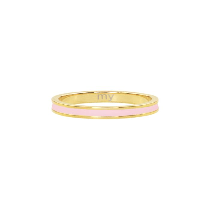 Roze & goud basic ring , minimalistische ring My Jewellery