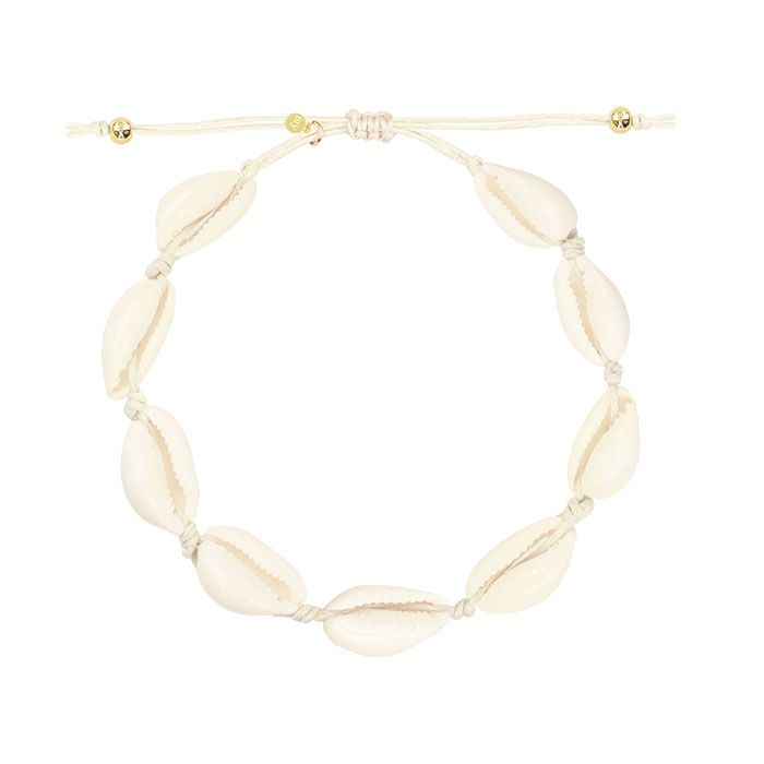Beige beach armband/enkelbandje, schelpen armbandje / enkelbandje My Jewellery