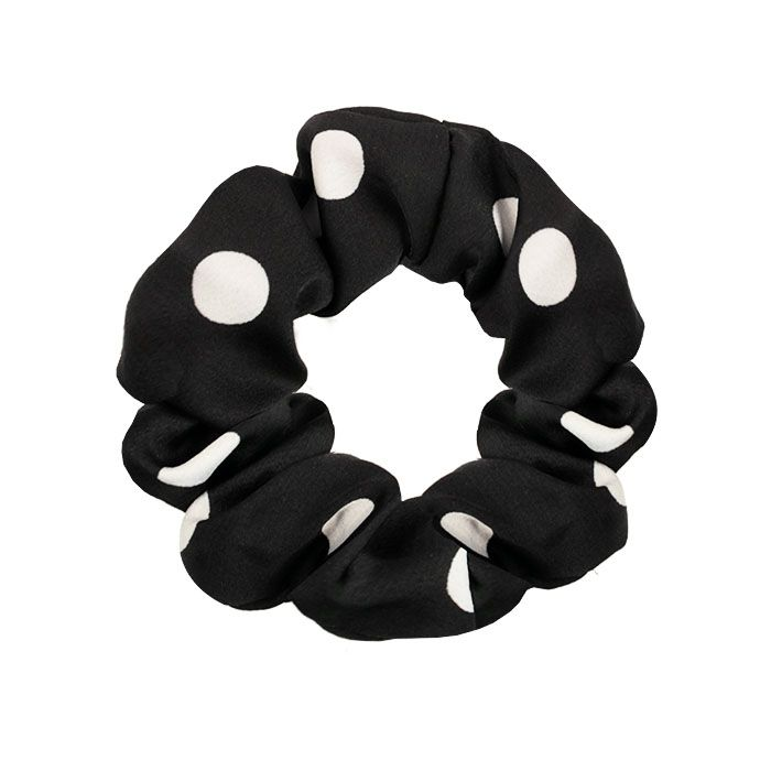 Zwarte scrunchie gestipt My Jewellery