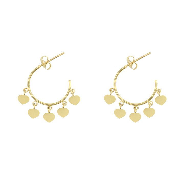 Oorbellen hartjes goud my jewellery