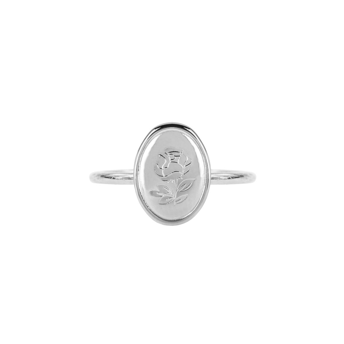 Ring Ovaal Roos, Minimalistische ring My Jewellery