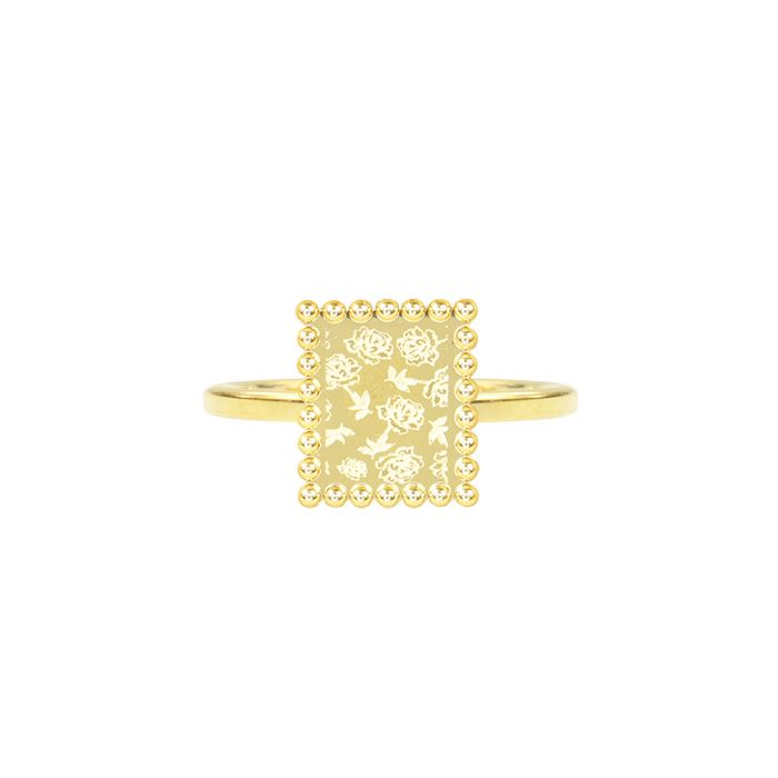 Ring  plaatje roosjes goud My Jewellery