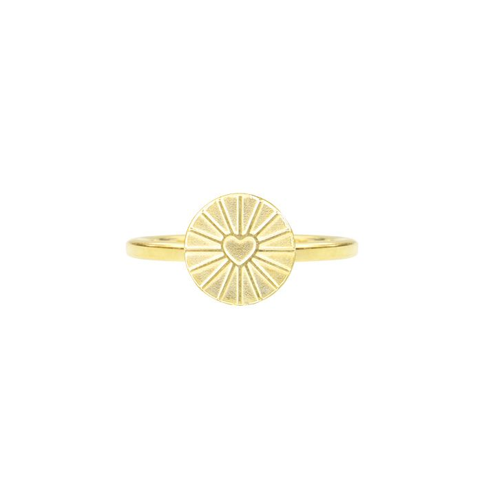 Ring rond plaatje hart goud My Jewellery