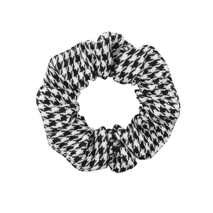 Houndstooth Scrunchie, zwart witte scrunchie My Jewellery