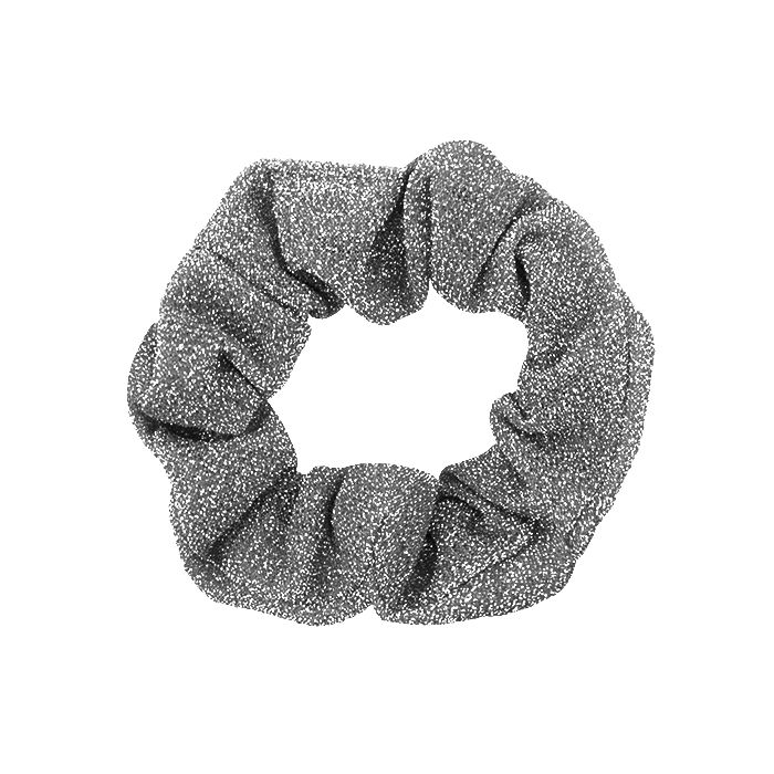Zilveren glitter scrunchie My Jewellery