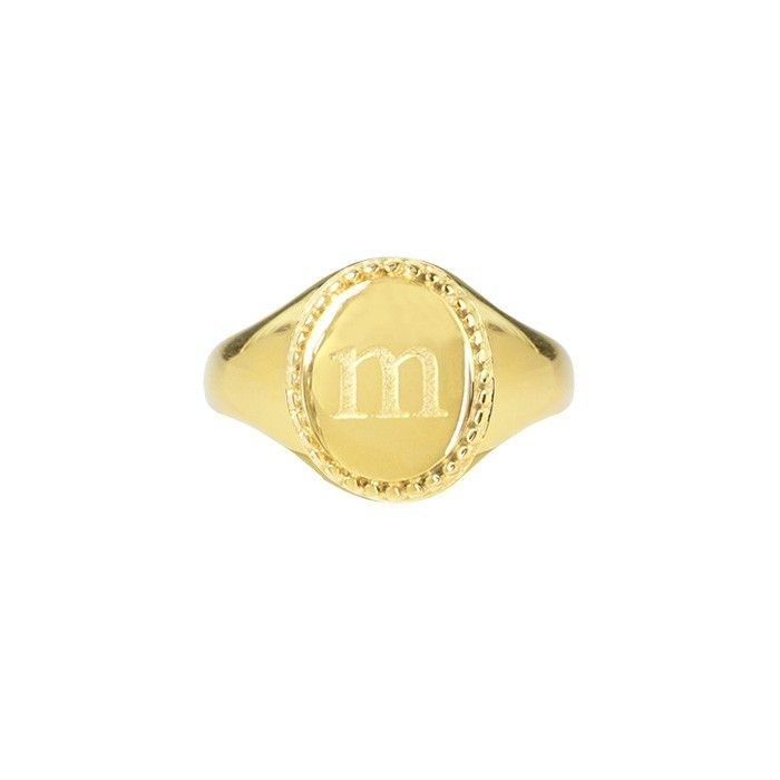 My Jewellery Zegelring initial letter goud