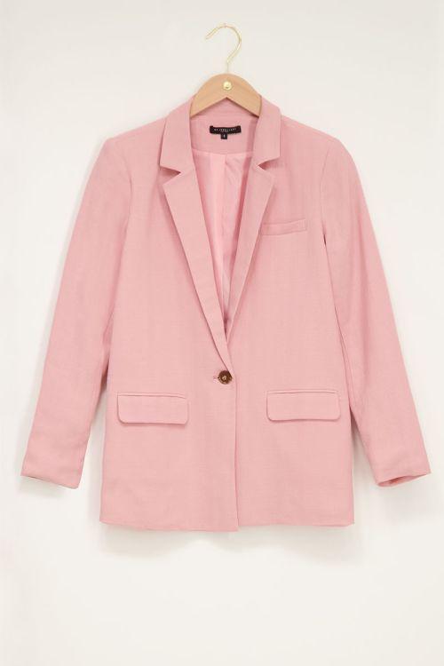 Roze blazer linnen look | My Jewellery