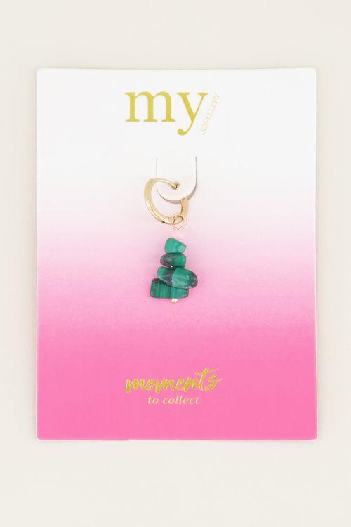 Moments one-piece malachite stone | Earring with gemstone My Jewellery