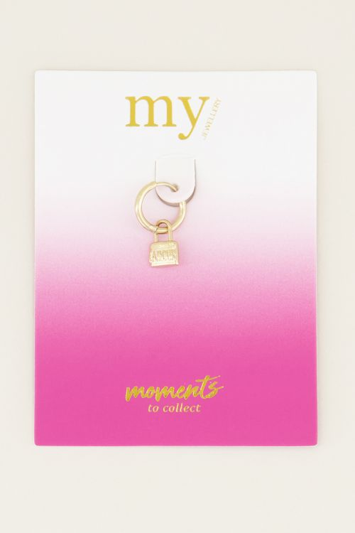 Moments one piece love lock |One piece oorbel bij My Jewellery