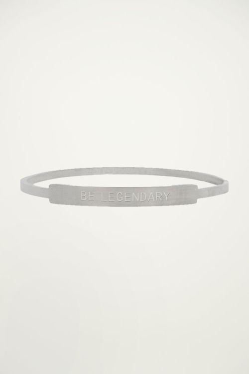 Armband zilver quote heren, Armbanden