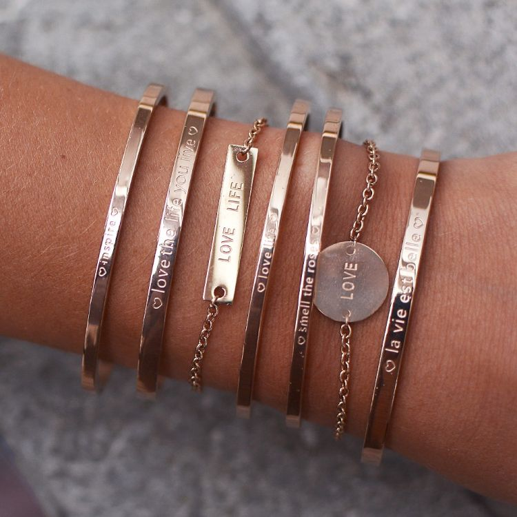 Armband quote LOVE LIFE