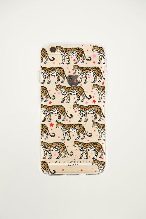 Iphone hoesje luipaard sterren soepel iPhone, hoesjes My Jewellery
