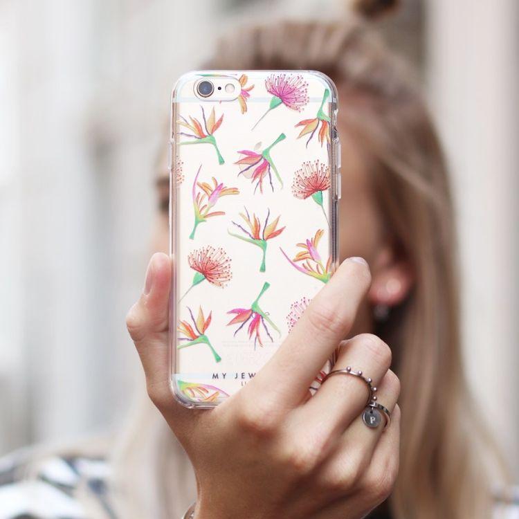 Telefoonhoesje bloemenprint iPhone