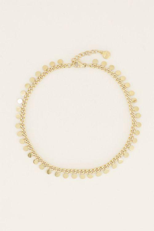 Enkelbandje coins zilver goud My Jewellery