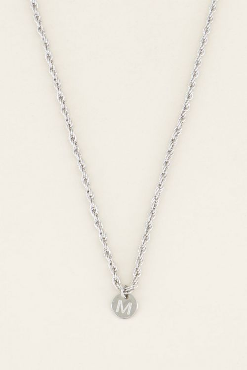 Silver necklace with initial, Initial necklaces My jewellery