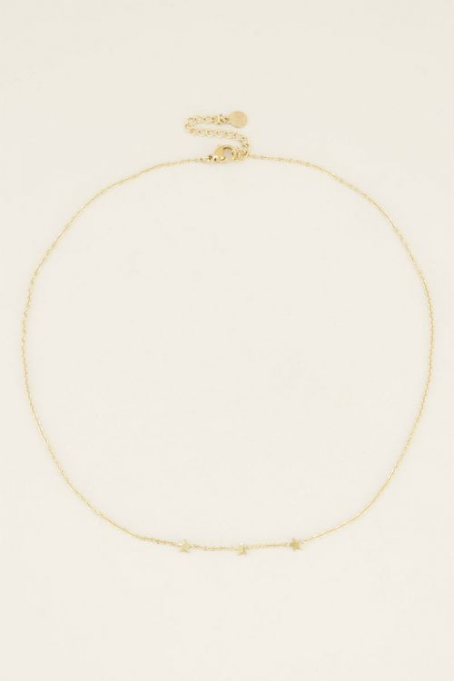 Ketting drie sterretjes, zilveren ketting My Jewellery