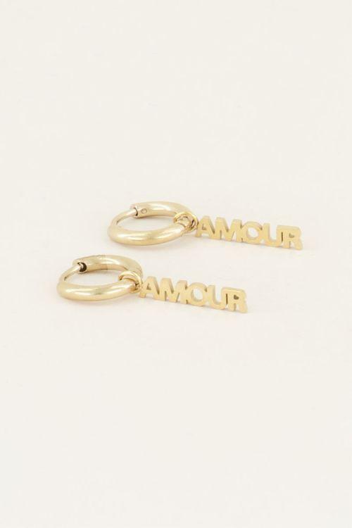 Oorringen amour, oorbellen love My jewellery