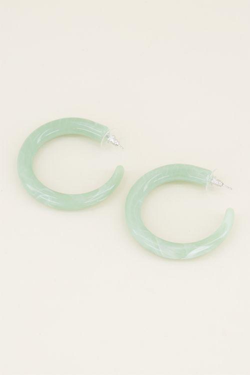 Groene oorringen | Groene oorbellen | My Jewellery