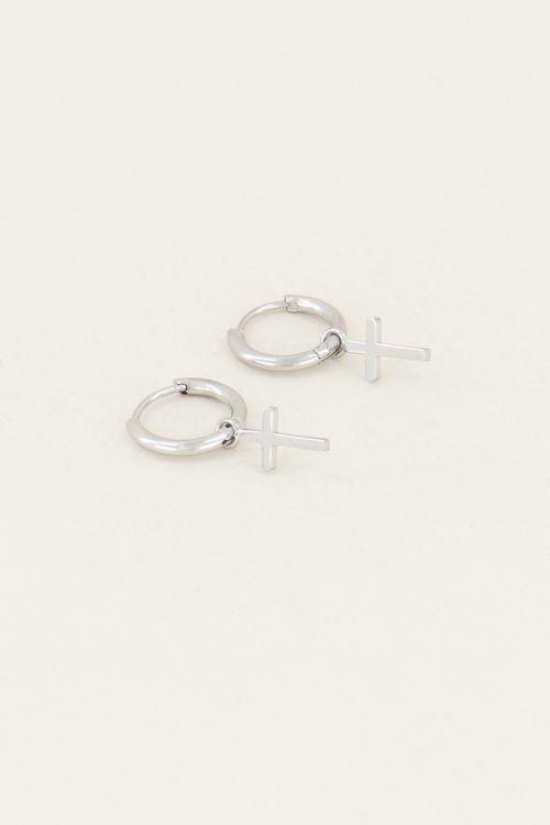 Earrings with a cross | Cross earrings My Jewellery earrings