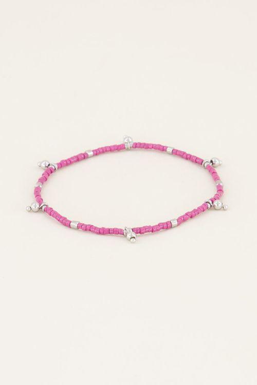 Armband met roze kralen | Kralen armband bij My Jewellery