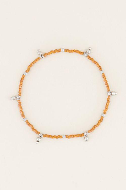 Bracelet with orange beads | Beaded bracelet at My Jewellery