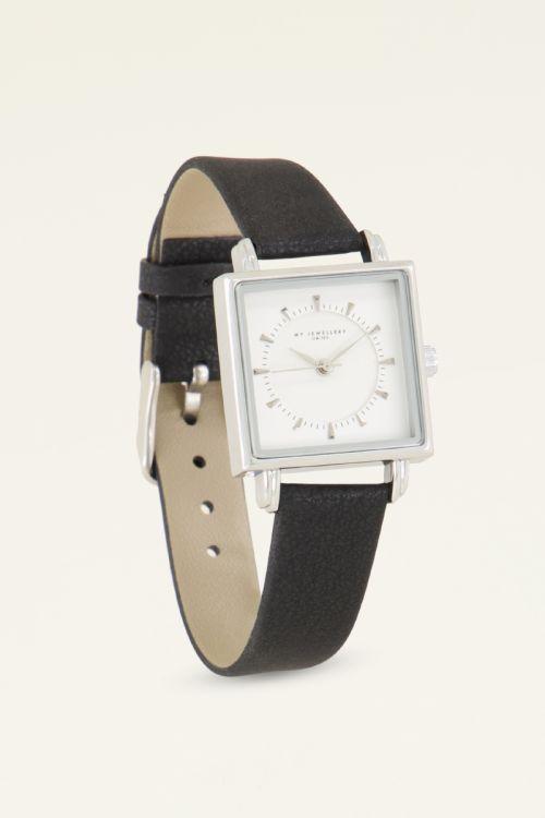 Zwart horloge vierkant | My Jewellery